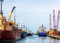Cargo Ships at Miami River