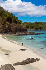 The Philippines, Palawan Province, tropical beach.