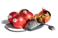 Christmas Balls end Computer mouse.