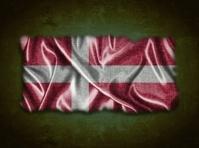 Vintage Denmark flag.