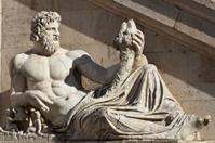 Statue Piazza Venezia - Roma, Italia