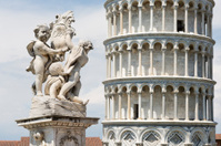 La fontana dei putti in Pisa, Tuscany Italy