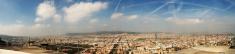 Panorama of Barcelona Spain