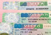 Schengen Visa on passport page