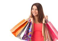 Pretty female shopper