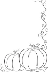 Simple Pumpkin Frame