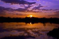 Sunset under lake
