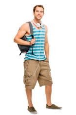 university student man back to school
