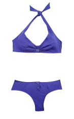 Indigo halter bikini