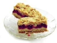 fruit cake with cherry jam