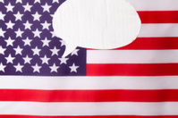 American speech bubble