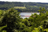 Tugboat and Barge on the Ohio