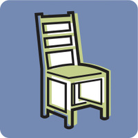 Chair on a blue background