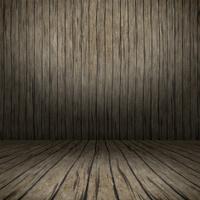 Grunge interior with wooden floor