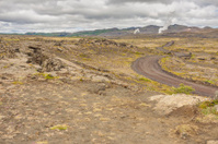 Volcanic landscape - Iceland.