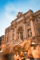Trevi fountain full of tourist
