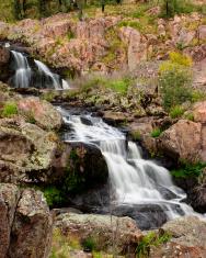 A small water cascade
