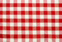 Red and white checked fabric texture