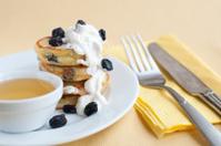 Delicious homemade cheese pancakes