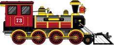 Wild West Style Steam Train