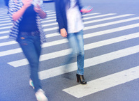 people and zebra crossing