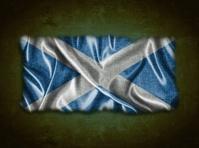 Vintage Scotland flag.