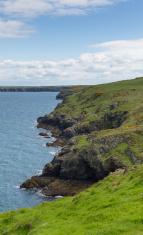Pembrokeshire coastal view towards Marloes and St Brides Bay Wal