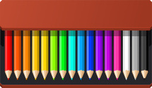 Pencil Box sixteen pencils