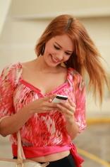 Lady Sending SMS