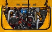 restored rear car engine