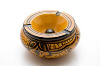 More around of open ceramics ashtray