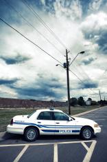 Vertical view of cop car