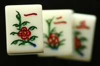 three mahjong tiles