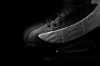 Black skates close up