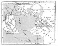 Antique illustration of 31 december 1861 eclipse map