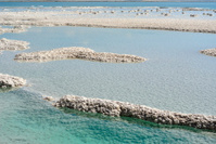 Dead sea mineral coast.