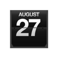 Counter calendar august 27.