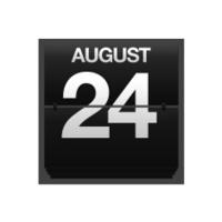 Counter calendar august 24.