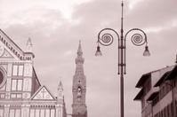 Santa Croce Church and Lamppost, Florence