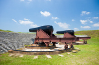 Canons From Fort Moultrie Near Charleston, South Carolina