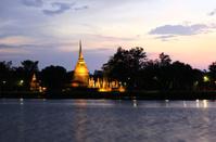 Sukhothai historical park at twilight