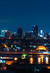Night Cityscape of Bangkok, Thailand
