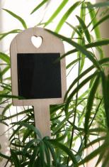 Tiny chalkboard plant sticker