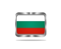 Metal Bulgary flag.