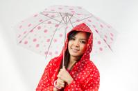 asian women under the umbrella