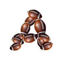american football icon alphabet capital letter Z