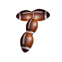 american football icon alphabet capital letter T