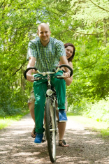 Married couple on a bike