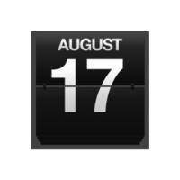 Counter calendar august 17.