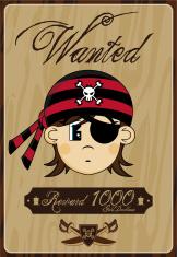 Bandana Pirate Wanted Poster